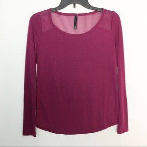 XS Maroon Burgundy Crewneck Long Sleeve NWOT